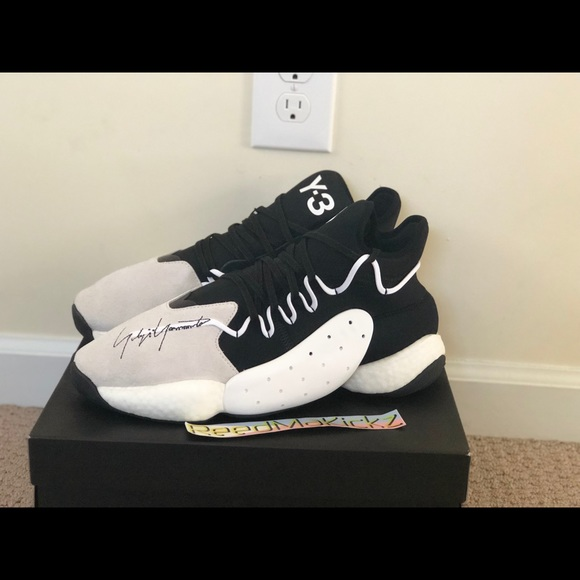 d157fc95a Adidas Y-3 BYW BBALL Black White Mens BC0337